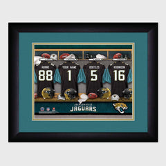 Personalized NFL Locker Sign w/Matted Frame - Jaguars -  - Professional Sports Gifts - AGiftPersonalized