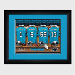 Personalized NFL Locker Sign w/Matted Frame - Panthers -
