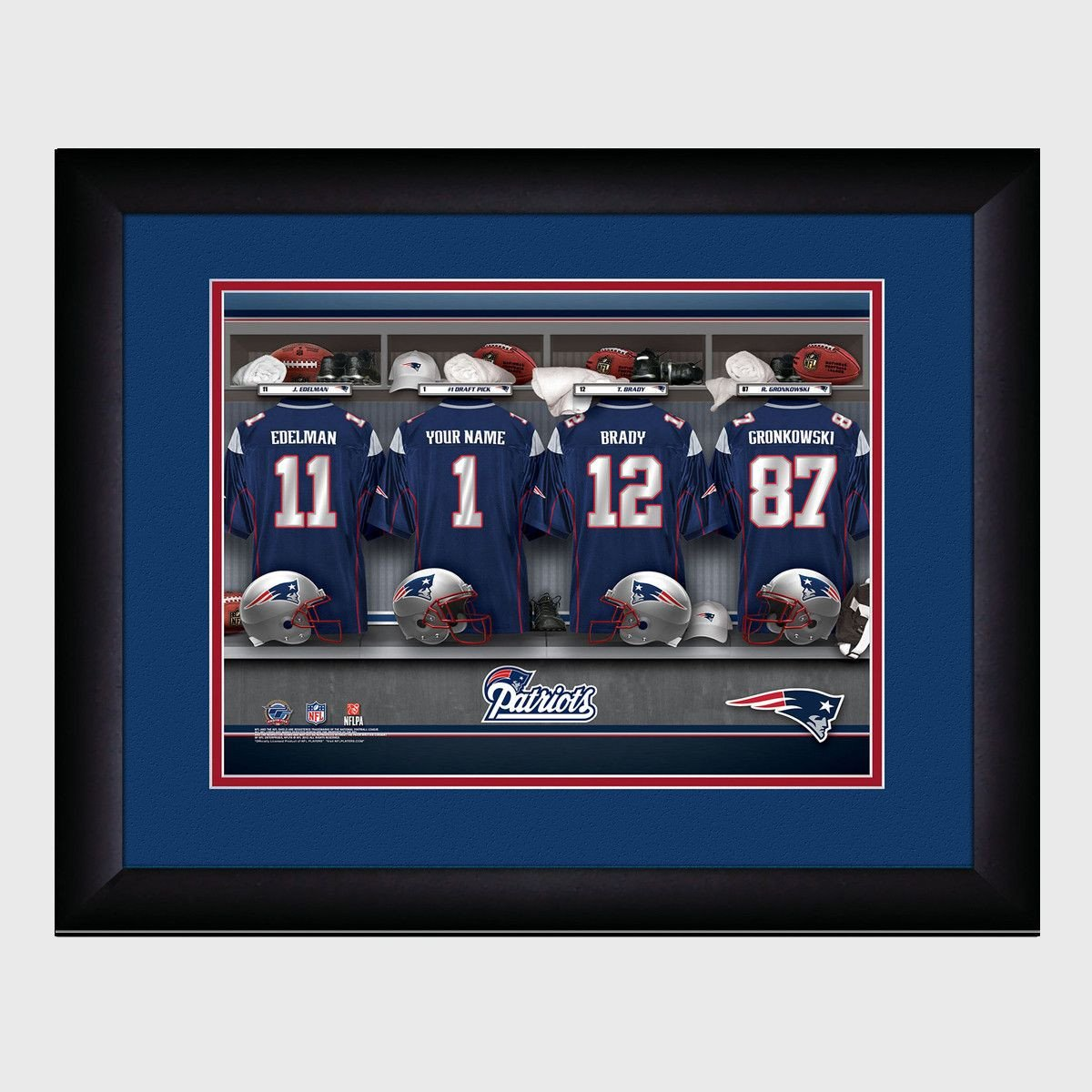 2784a0775f4 Personalized NFL Locker Sign w/Matted Frame - Patriots -