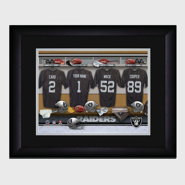 Personalized NFL Locker Sign w/Matted Frame -Raiders -  - JDS