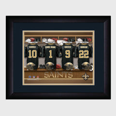 Personalized NFL Locker Sign w/Matted Frame - Saints -  - Professional Sports Gifts - AGiftPersonalized