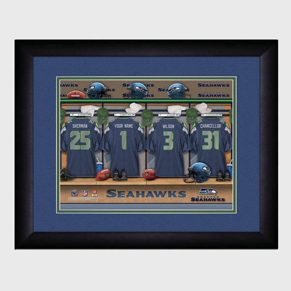 Personalized NFL Locker Sign w/Matted Frame - Seahawks -  - JDS