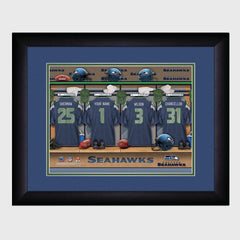 Personalized NFL Locker Sign w/Matted Frame - Seahawks -  - Professional Sports Gifts - AGiftPersonalized