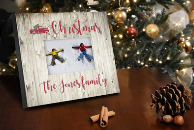 Personalized Red Truck Christmas  8x10 Picture Frame -  - JDS