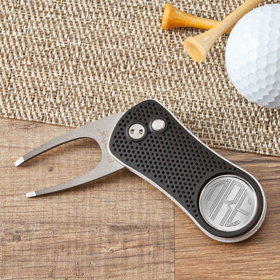 Personalized Golf Ball Markers - Divot Tool - Aluminum -  - JDS