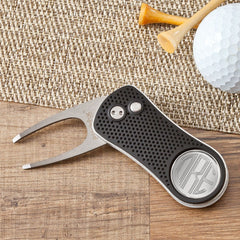 Golf Divot Tool with Personalized Magnetic Ball Marker