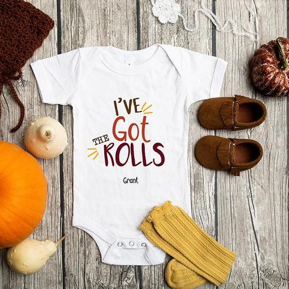 Personalized Thanksgiving Infant and Toddler One-Piece Collection - White / 3-6 Month - Qualtry