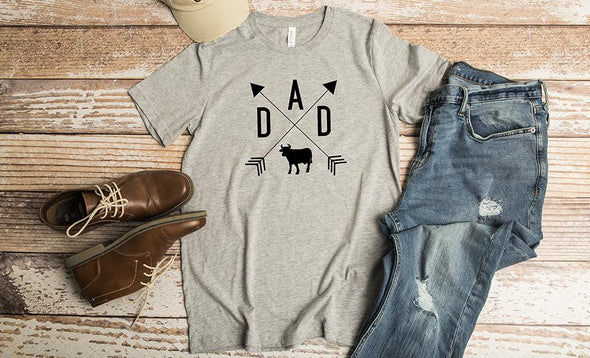 Personalized T-Shirts for Dad and Grandpa - Athletic Heather / XS - Qualtry