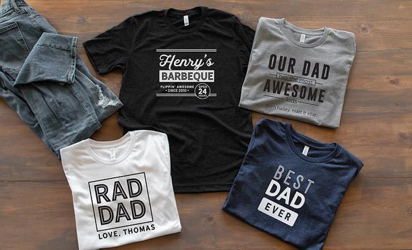 Personalized Best Dad Ever T-Shirt Collection -  - Qualtry