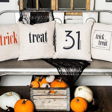 Personalized Halloween Throw Pillow Covers -  - Qualtry