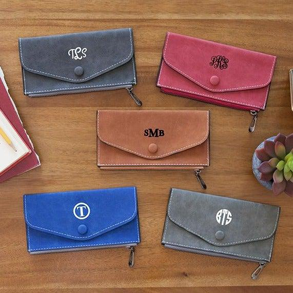 Monogrammed Womens Wallets -  - Qualtry