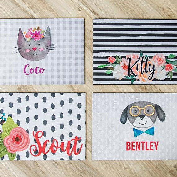 Personalized 12x18 Pet Placemats