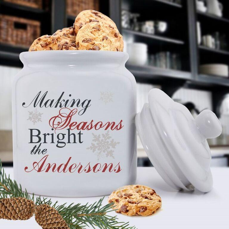 Personalized Holiday Cookie Jars - Making Season