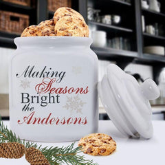 Personalized Holiday Cookie Jars - Making Season -  - Keepsake Gifts - AGiftPersonalized