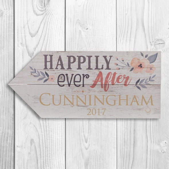 Personalized Wooden Arrows Last Name Sign - Welcome - JDS