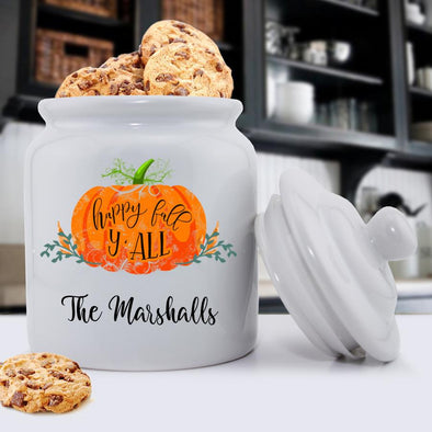 Personalized Happy Fall Cookie Jar -  - JDS