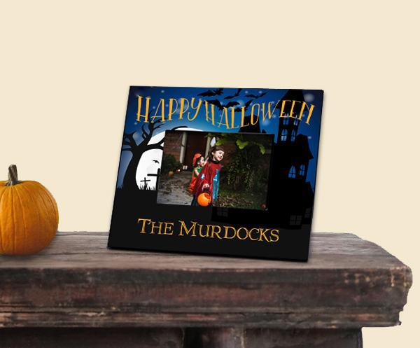 Personalized Happy Halloween Picture Frame - 5x7