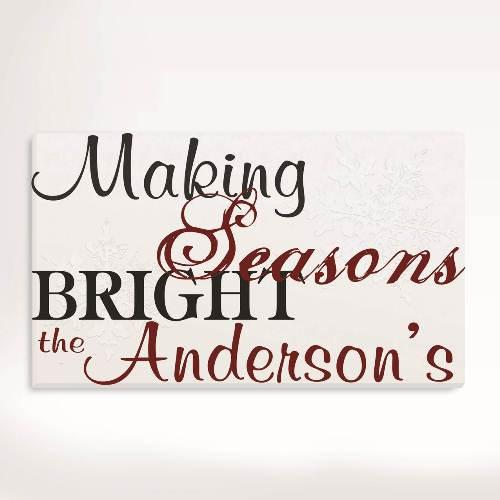 Making Seasons Bright Holiday Canvas Sign
