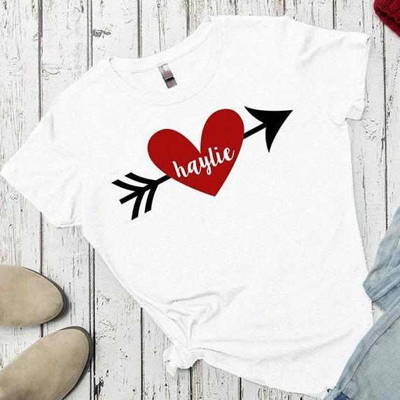 Personalized Love Themed Ladies T-Shirts - White / XS - Qualtry