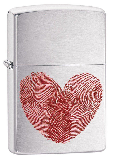 Personalized Heart Thumbprints Zippo Lighter -  - Zippo