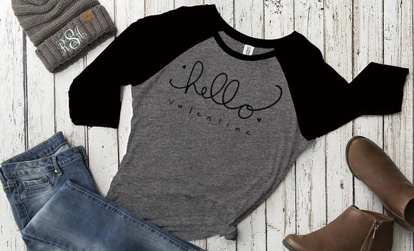 Personalized Love Themed Ladies Raglans -  - Qualtry
