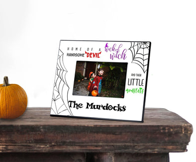 Personalized Little Monsters Halloween Picture Frame - 5x7 -  - JDS