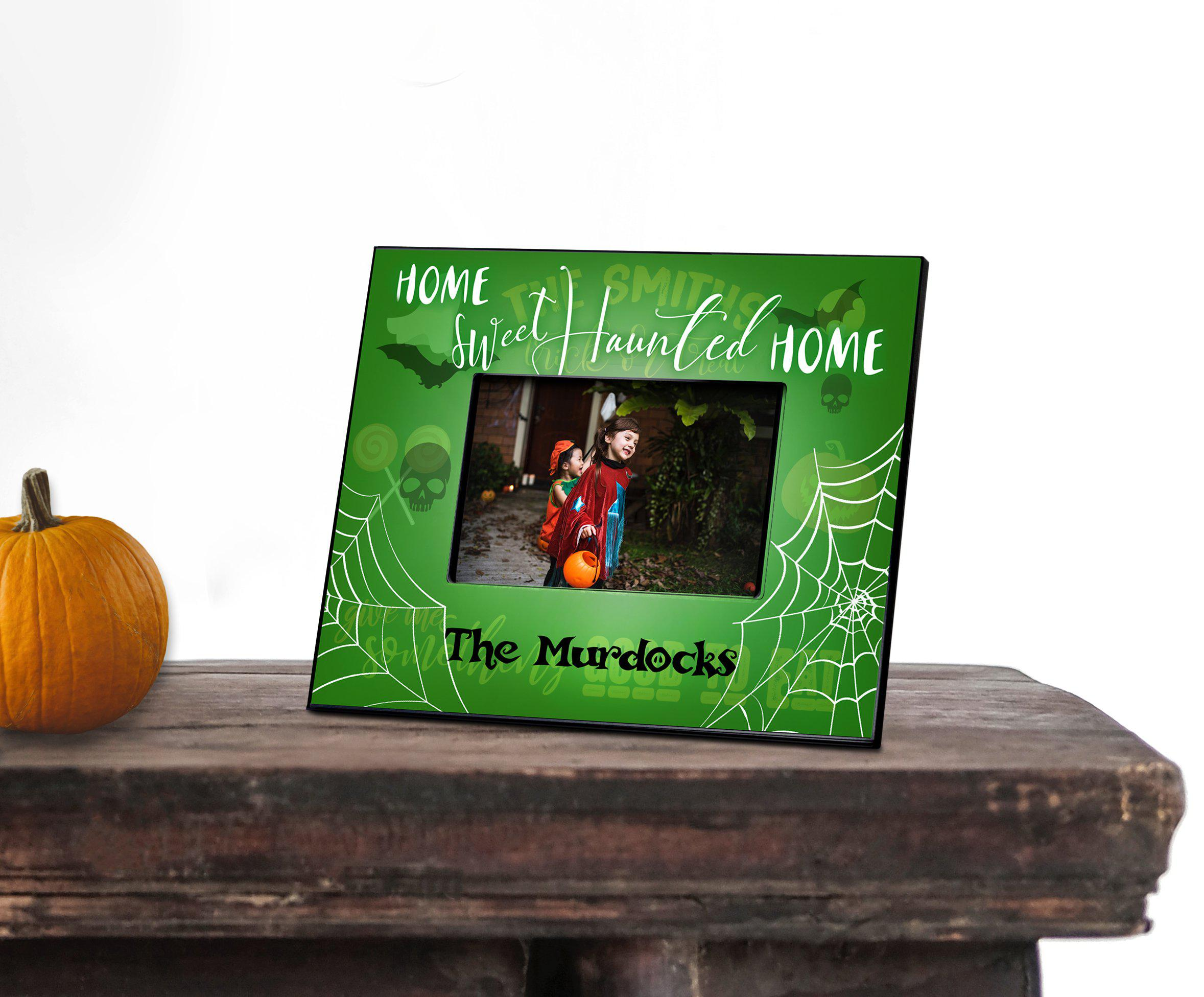 Personalized Haunted Halloween Picture Frame - 5x7