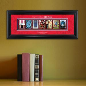 Personalized University Architectural Art - College Art - Houston - JDS