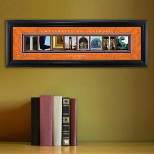 Personalized University Architectural Art - Big 10 Schools College Art - Illinois