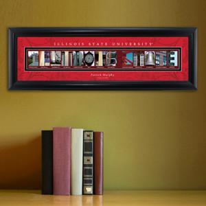 Personalized University Architectural Art - College Art - IllinoisST - JDS
