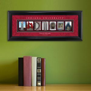 Personalized University Architectural Art - Big 10 Schools College Art - Indiana