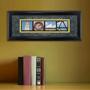 Personalized University Architectural Art - Big 10 Schools College Art - Iowa