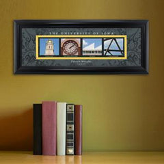 Personalized University Architectural Art - Big 10 Schools College Art - Iowa - Personalized Wall Art - AGiftPersonalized