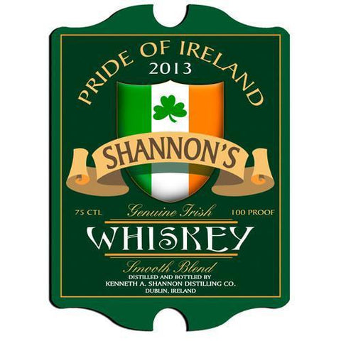Personalized Irish Themed Vintage Sign - IrishWhiskey - Irish Gifts - AGiftPersonalized