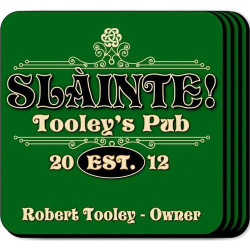 Personalized Irish Theme Coaster Set -  - JDS