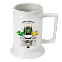 Personalized Irish Theme Beer Stein - IrishPub - Irish Gifts - AGiftPersonalized