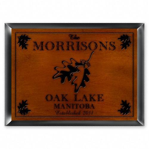 Personalized Cabin Series Signs - Oak - JDS