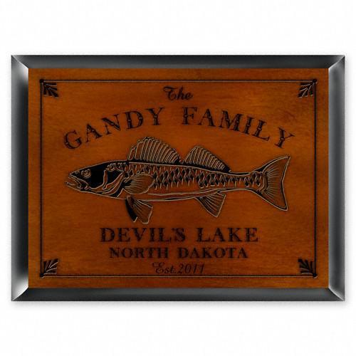 Personalized Cabin Series Signs - Walleye - JDS