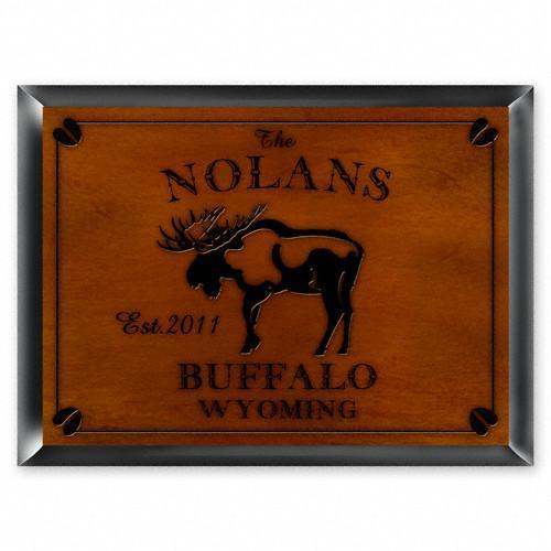 Personalized Cabin Series Signs - Moose - JDS