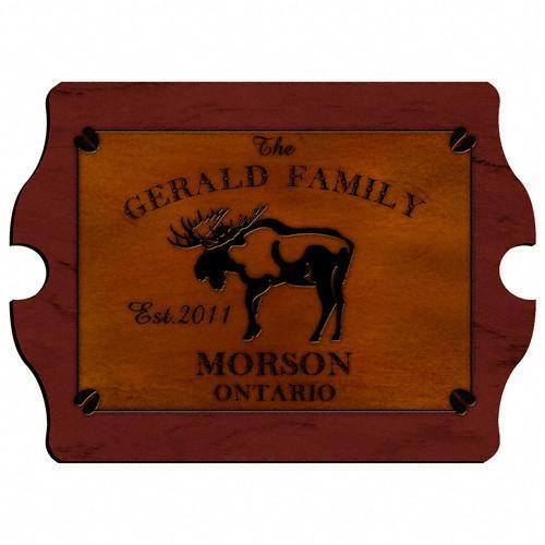 Personalized Cabin Series Wood Signs - Moose - JDS