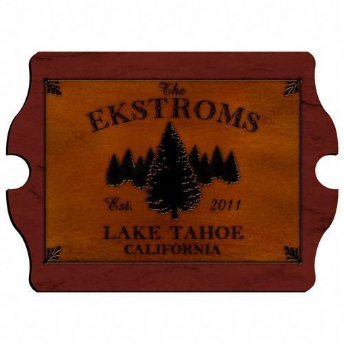 Personalized Cabin Series Wood Signs - Spruce - JDS
