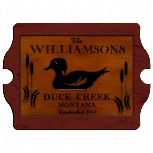 Personalized Cabin Series Wood Signs - Duck - JDS