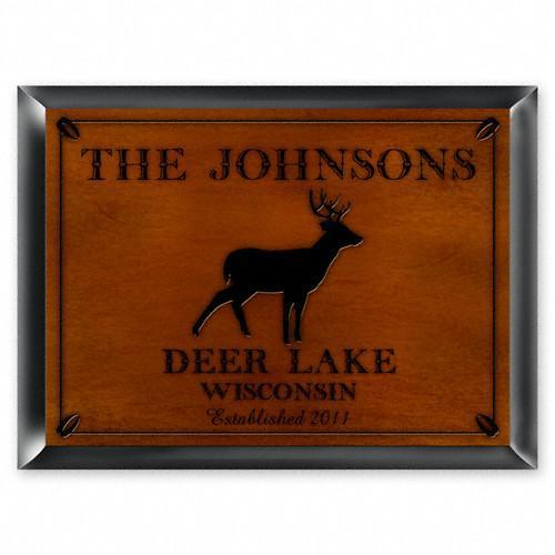 Personalized Cabin Series Signs - Stag - JDS