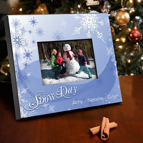 Personalized Holiday Picture Frame - SnowDay - Frames - AGiftPersonalized
