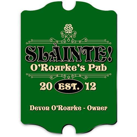Personalized Irish Themed Vintage Sign - SlainteClassic - Irish Gifts - AGiftPersonalized