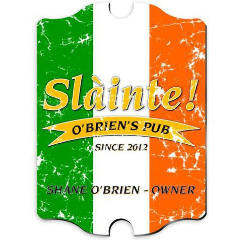 Personalized Irish Themed Vintage Sign - PrideoftheIrish - Irish Gifts - AGiftPersonalized