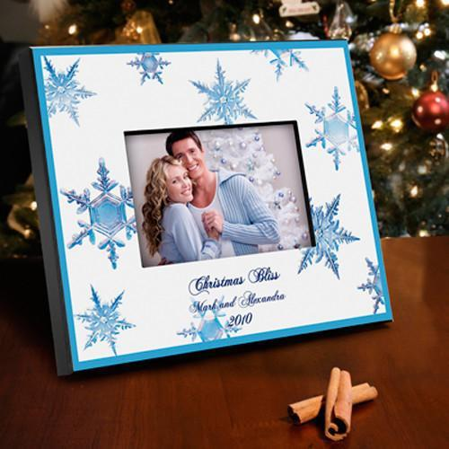 Personalized Cristal Snowflake Picture Frame