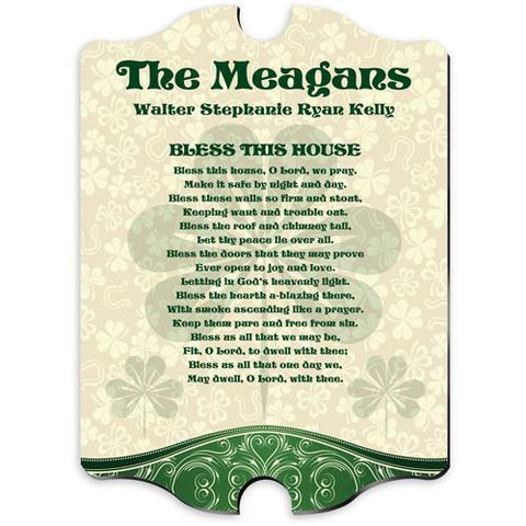 Personalized Irish Family Vintage Sign -  - Irish Gifts - AGiftPersonalized
