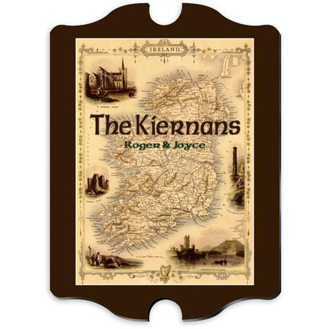 Personalized Irish Family Vintage Sign -