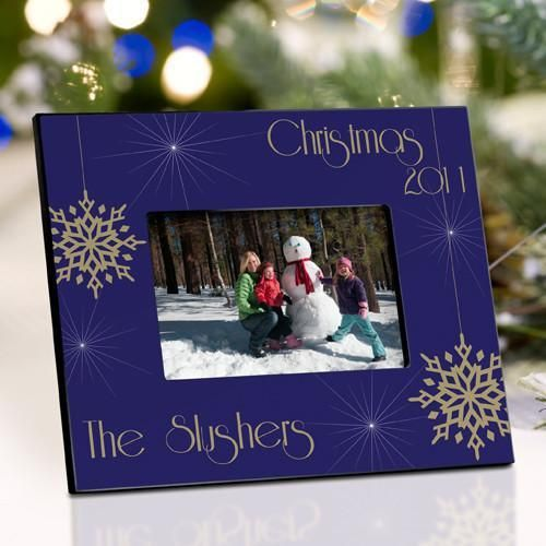 Personalized Christmas Picture Frame - Evening Snowfall